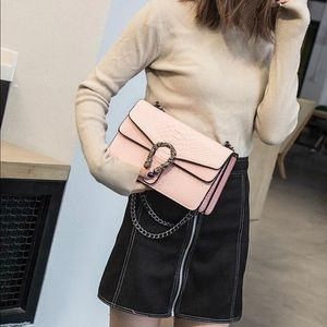 Handbags - Pink buckle handbag